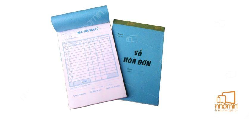Kích thước chuẩn của sổ hóa đơn
