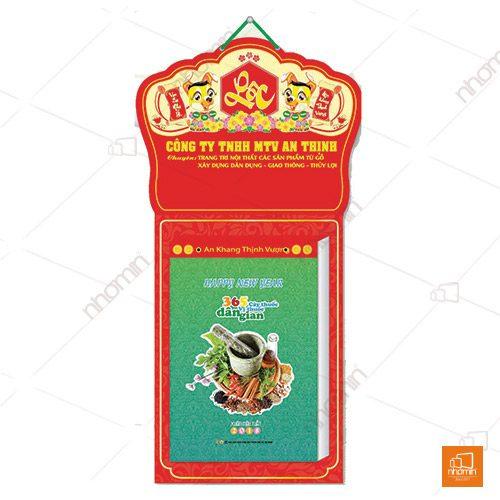 Kiểu dáng lịch bloc công ty An Thịnh