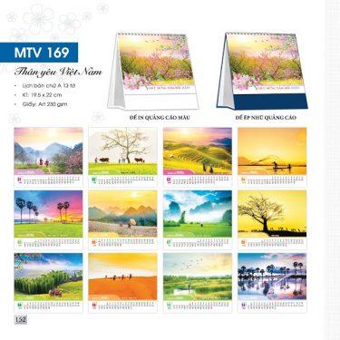 Mẫu lịch để bàn MTV 2020 - Thân yêu Việt Nam