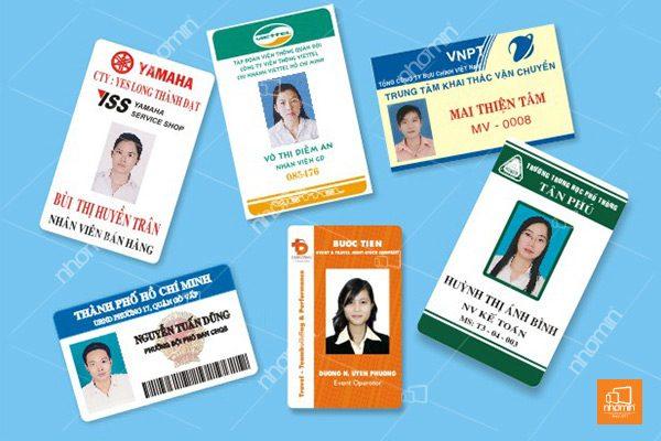 Mẫu thẻ nhựa nhân viên