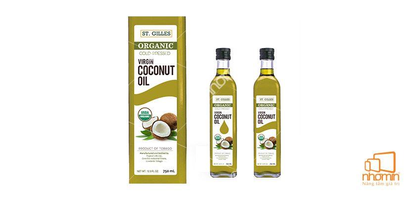 Tem nhãn sản phẩm dầu dừa
