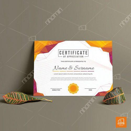 Thiết kế giấy chứng nhận độc lạ
