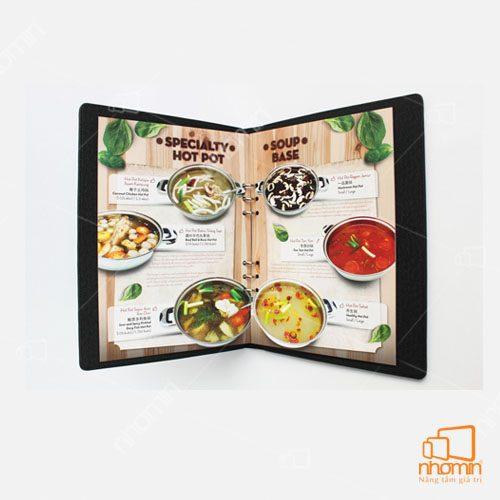 Thiết kế menu bắt mắt, ấn tượng