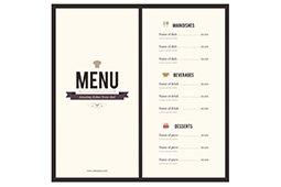 báo giá in menu
