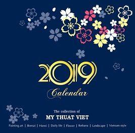 catalogue lịch treo tường phôi sẵn của Mỹ Thuật Việt