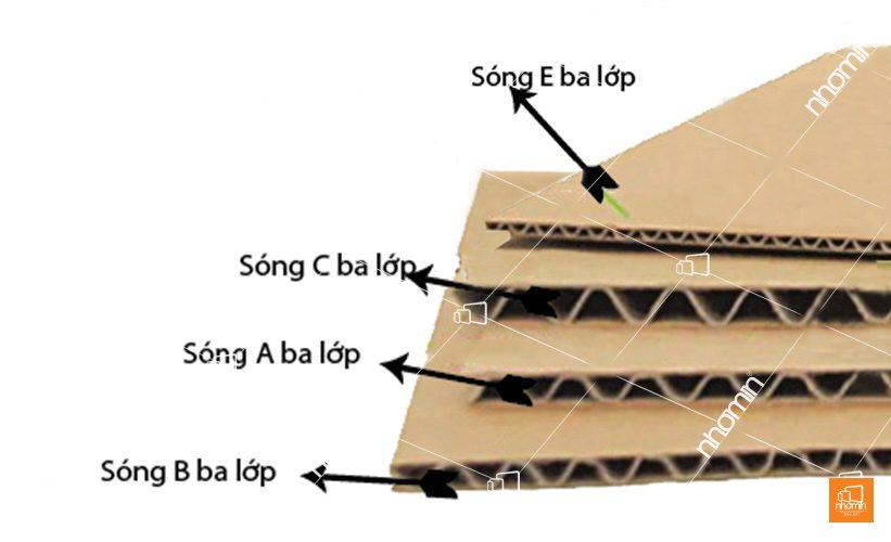 thùng các tông bồi sóng 3 lớp