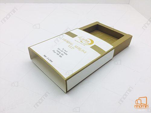 hộp mỹ phẩm kiểu bao diêm