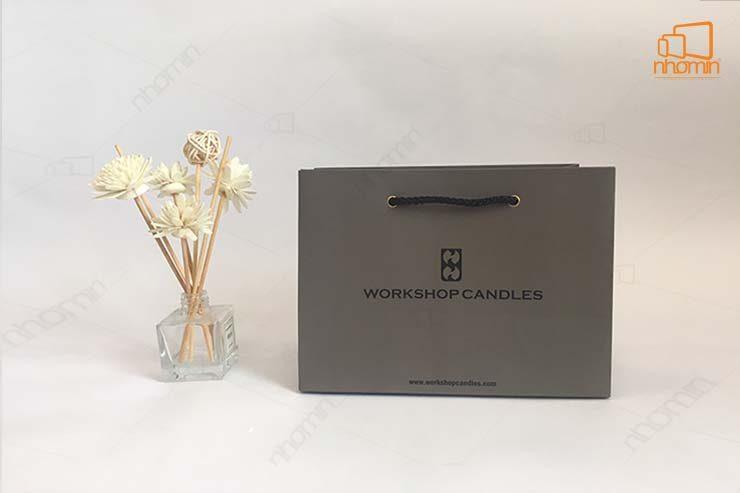 Mẫu túi giấy workshop candles