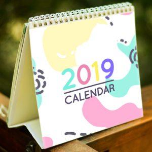 lịch để bàn 2019 dễ thương
