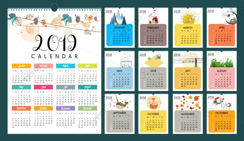 lich treo tuong dep 2019