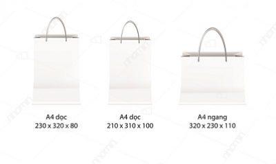 mẫu túi giấy a4