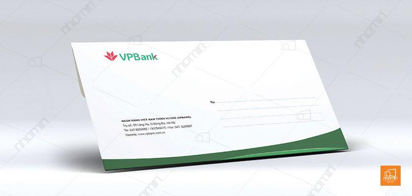 Mẫu phong bì ngân hàng VPBank