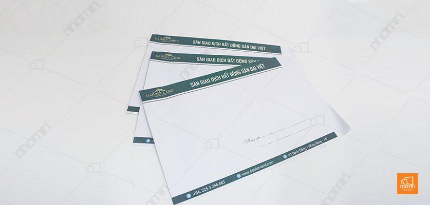 mẫu phong bì phòng giao dịch bất động sản Việt