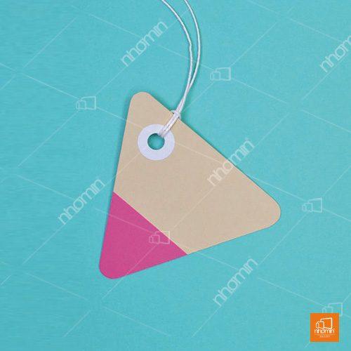 Mẫu tag giấy hình tam giác