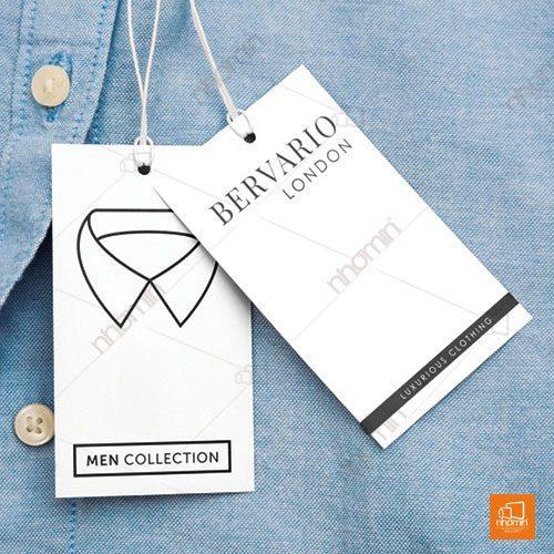 Mẫu tag giấy quần áo đơn giản