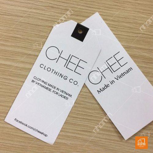 Mẫu thẻ treo quần áo CHEE