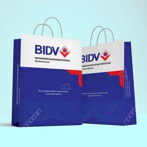 maẫu túi giấy của ngân hàng BIDV