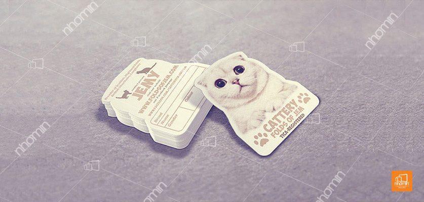 Tag giấy hình con mèo