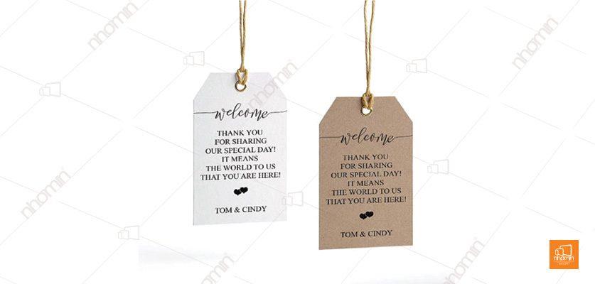 Tag giấy Tom and Cindy