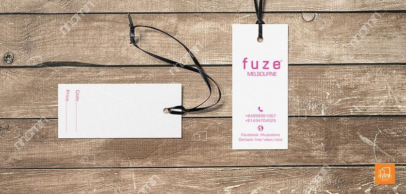tag giấy treo quần áo Fuze Mebourne
