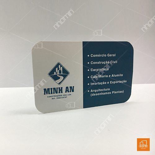 thiết kế và in ấn danh thiếp công ty Minh An